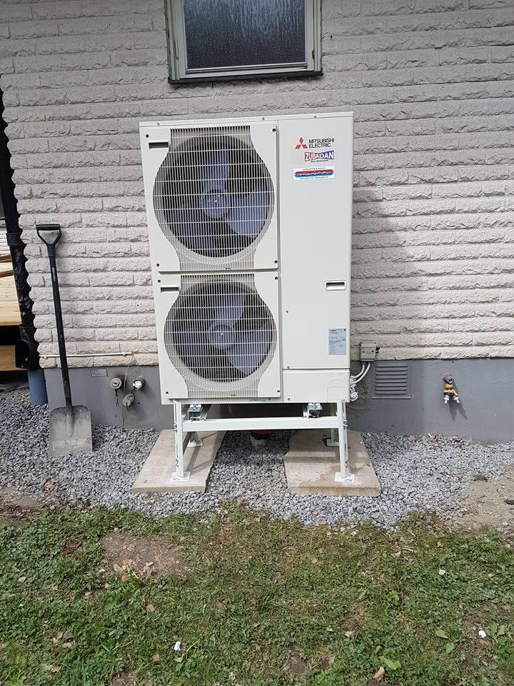 Mitsubishi Ecodan luft-vatten i Knivsta